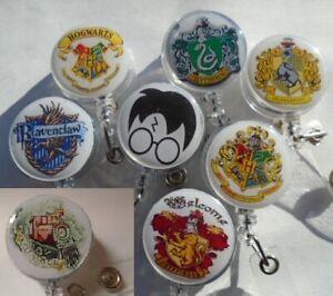 ID Badge Reel Pass Card Holder Keyring Harry Potter Hogwarts Train School 9 3/4