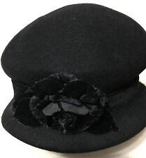 Eric Javits Luxury Fashion Designer Women's Headwear Hat - Wool Planter - Black