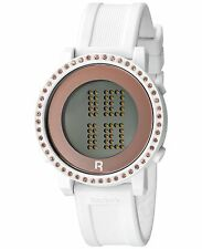 Ladies Reebok Bling White Rubber Digital Chronograph Watch RC-RZB-L9-PWIW-W3