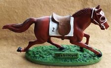SEABISCUIT: A NATIONAL TREASURE - HORSE RACING FIGURINE BY HARTLAND - NEW IN BOX