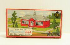 PLASTICVILLE HO Scale School House Model Kit #HO-98 VINTAGE ORIGINAL