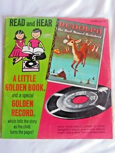 Read and Hear A Little Golden Book 45 RPM Record and Book Rudolph The Red Nosed