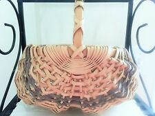 DELIGHTFUL Small Buttock Basket Natural with Violet Accent