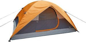 Amazon Basics 4-Person Dome Camping Tent With Rainfly - 9 x 7 x 4 Feet, Orange