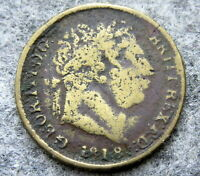 GREAT BRITAIN GEORGE III TOKEN IMITATION 1818 ONE SHILLING, MADE OF BRONZE