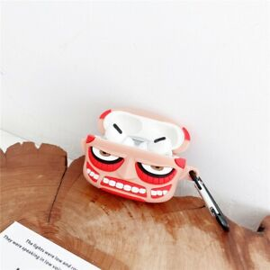 Attack On Titan Airpods Pro Case Protective Cover Silicone Rubber Wth Metal Hook