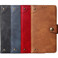 Premium Retro Flip Stand Wallet Leather Cover Shell Etui Skin Case For BLU Phone