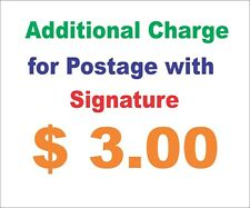Charges for signature on delivery for items purchased from our shop Fame Design1