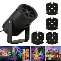 Outdoor LED Laser Moving Light Xmas Party Home Garden Landscape Projector Decor