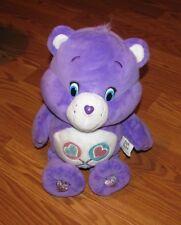 "Share Care Bear Purple Lollipop Talks Sings Moves Plush 13"" Toy Lovey 2016"