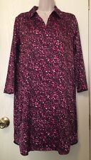 Cabernet Small Party Dress Sexy Black and Pink Abstract Polka Dot Shirt Gown