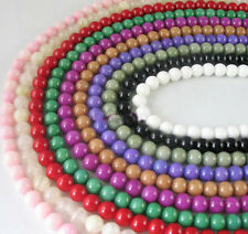 500pcs (10 Str) Mix colours dyed jade beads Round 8mm #11869