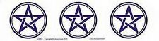 PENTAGRAMS 3 on BUMPER STICKER - Wicca Witch Pagan Goth