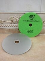 100mm Grit 600 THK Diamond FLAT LAP lapping wheel hook loop backed grinding disc