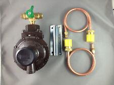 REGO 450 MJ High Capacity House 2 Stage LPG Regulator, Change Over Tap+Pig Tails