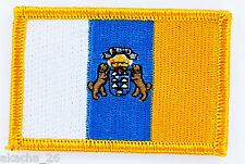PATCH ECUSSON BRODE DRAPEAU ÎLES CANARIES ESPAGNE INSIGNE THERMOCOLLANT FLAG