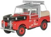 Oxford 76LAN188015 Land Rover Series 1 British Rail Fire 1/76/00 Scale in Case T