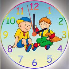 Wanduhr - Uhr für das Kinderzimmer - Motiv: Caillou und Leo - Kinderuhr aus Holz