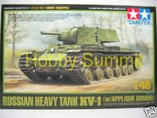 32545 Tamiya 1/48 Russian Heavy Tank  KV-1 w/ Applique Armor Armored Car Kit