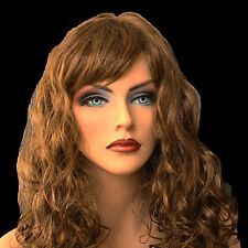 "18"" Long Brown Synthetic Curly Wavy Hair Wig for Cosplay Party Fancy Dress, NEW"