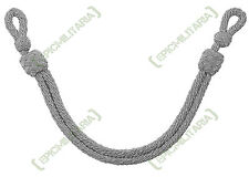 German Army Officers ALUMINIUM CAP CORD for Peaked Visor Caps - WW2 Repro Silver