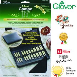 Clover Takumi Knitting Needles Combo Set - Interchangeable, Circular, Bamboo