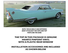 PLYMOUTH FURY CONVERTIBLE TOP DO IT YOURSELF PACKAGE 1960-1961