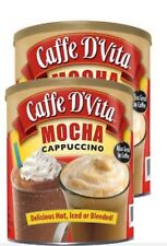 Caffe D'Vita Hot or Iced Cappuccino Drink Mix, Mocha 64 Oz - 2 Pack