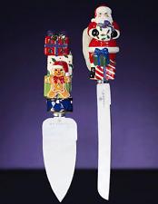 Christopher Radko Splendid Santa Serving Set Ceramic and Steel New In Box