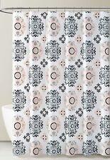 Peva Shower Curtain Liner Odorless, Pvc Free Coral Gray Black White Medallion