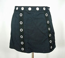 ANNE COLE Black Nylon Mini Skirt size 6