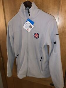 NWT Columbia Women's Chicago Cubs Give And Go Full-Zip Jacket = Gray size Small