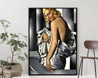 Tamara de Lempicka Artwork Art Print Portrait of Marjorie Ferry Home Wall Decor