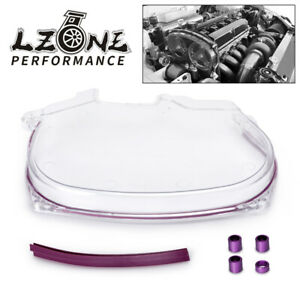 Clear Cam Gear Pulley Timing Belt Cover For Mitsubishi Lancer EVO 4 5 6 7 8 4G63