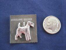 Schnauzer Dog P & B Sterling Silver Charm