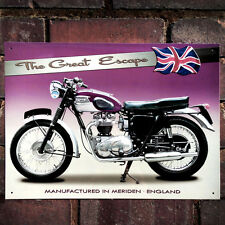 Triumph Tr6 Trophy 41 Metal Wall Sign Motorbike Men Gift Garage Plaque Art 50912