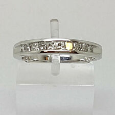 9ct White Gold 50pt Princess Cut Diamond Eternity Ring.  Goldmine Jewellers.