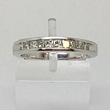 9ct White Gold 50pt Princess Cut Diamond Eternity Ring.  Goldmine Jewellers.