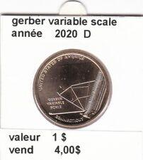 pièces de 1 $ gerber variable scale  2020 D