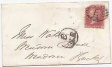 * 1857 E/NR IN CIRCLE GRAND NORTHERN RAILWAY TPO ON LONDON TO WENDOVER BUCKS