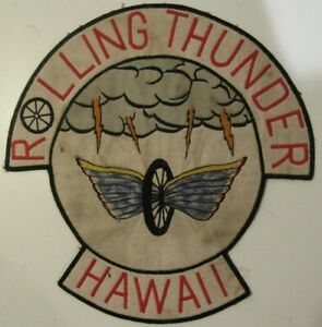 RARE Hawaii Rolling Thunder MC Motorcycle Club Patch Embroidered Vintage HD HI