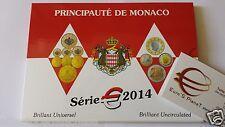 MONACO 8 monete 3,88 EURO 2014 fdc divisionale confezione ORIGINAL 8000 tiratura