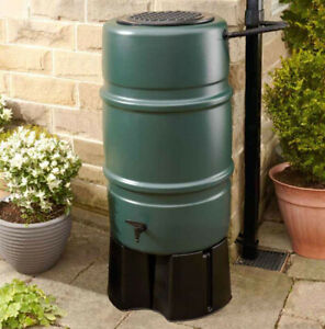 Harcostar 227L Water Butt with Stand and Diverter - Easy Rainwater Recycling!