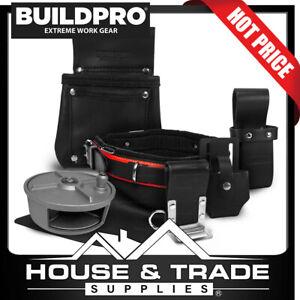 BuildPro Steel Fixing Fixers Set 6 Piece Leather Heavy Duty REEL SFS