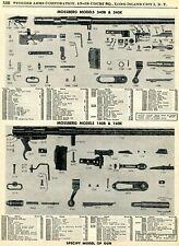 1961 Print Ad of Mossberg Model 340B 340K 140B 140K Rifle Parts List