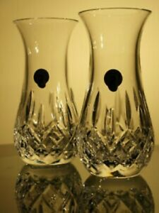 Waterford Crystal Lismore Sugar Bud Vase Pair Brand New