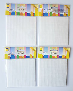 400 3D Double Sided Adhesive Foam Pads For Decoupage, Card Making & Scrapbooks