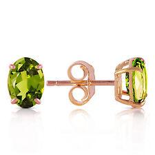 1.8 CTW 14K Solid Rose Gold Panache Peridot Stud Earrings