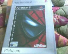 PLAYSTATION 2 VERSION OF SPIDER-MAN INLAY OR ARTWORK ONLY PLATINUM