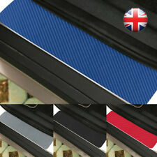 4x Car Accessories Door Sill Scuff Welcome Pedal Protect Carbon Fiber Sticker UK